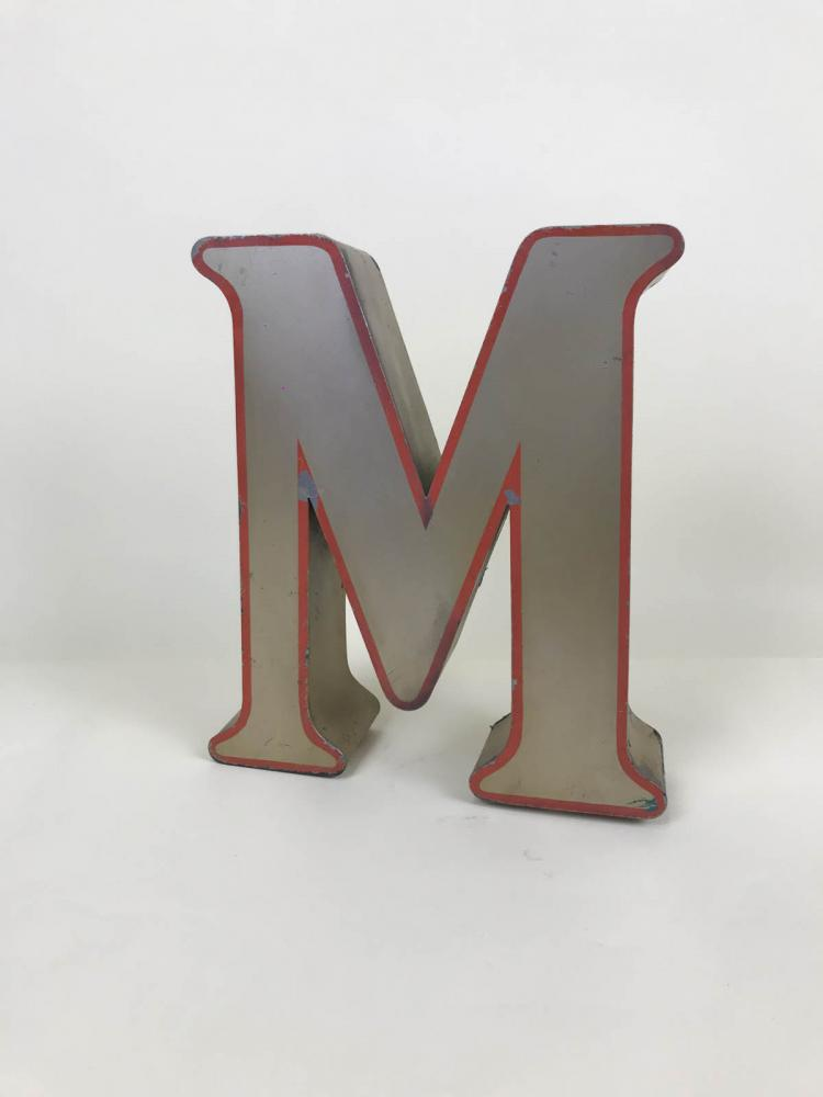 1970s_Large_English_Metal_BronzeColor_CapitalLetter_M