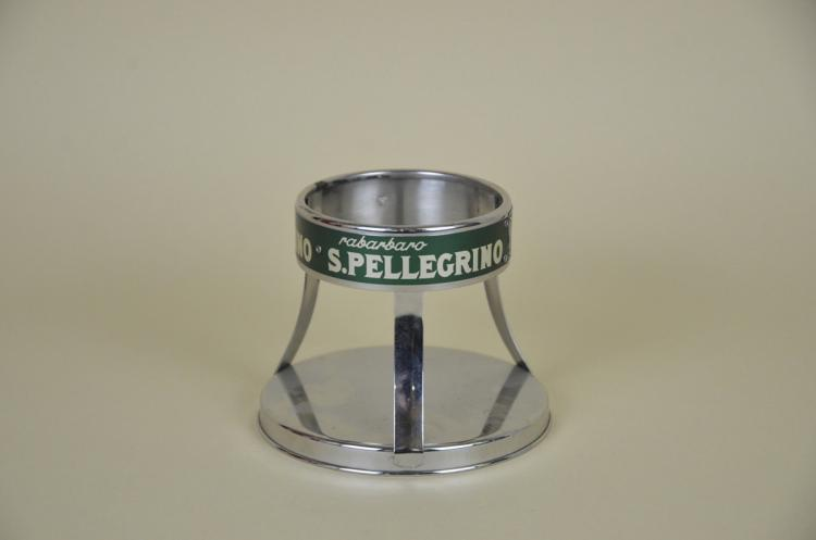 1970s-Vintage-Italian-Metal-San-Pellegrino-Mineral-Water-Bottle-Holder