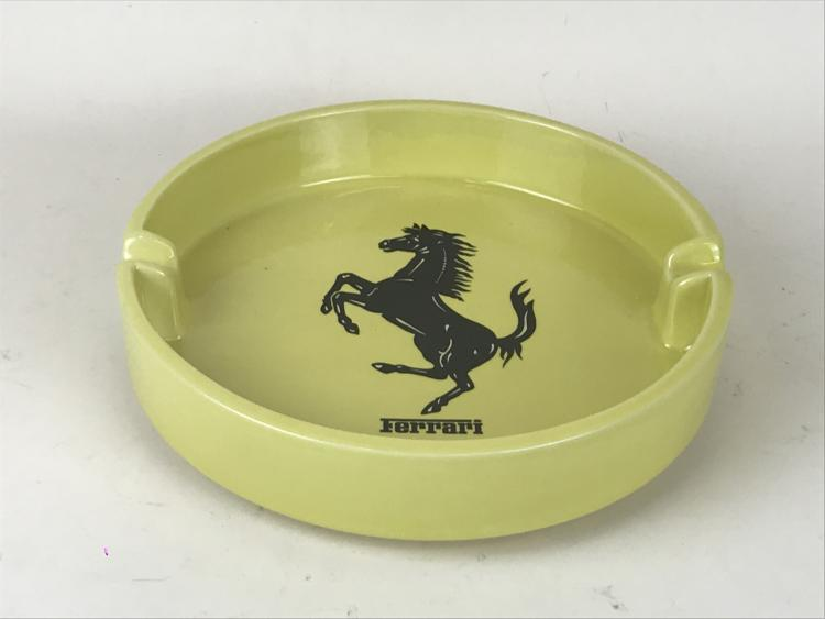 Large Italian Advertising Yellow Ceramic Ferrari Ashtray by Bitossi ...