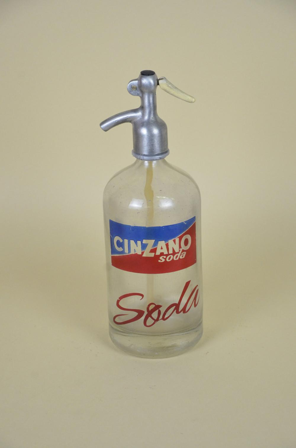 1950s-Vintage-Glass-Italian-Soda-Syphon-Seltzer-Logo-Cinzano-Soda-Bar-Bottle