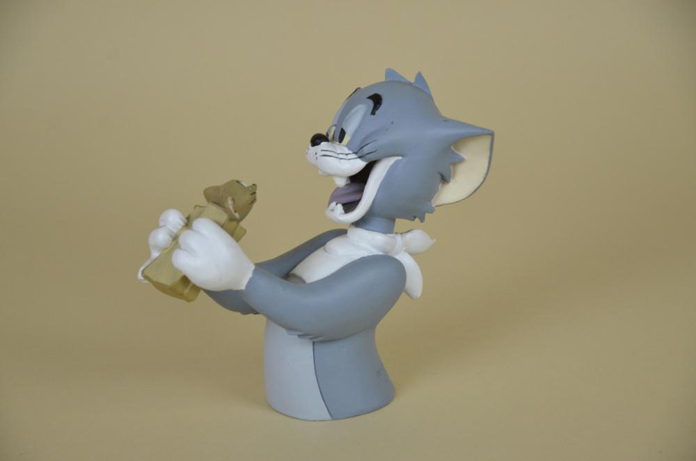 1990s-French-Vintage-Hanna-Barbera-Tom-and-Jerry-StatueDemons-Merveilles